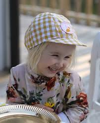 Kids Cap Yellow Vichy