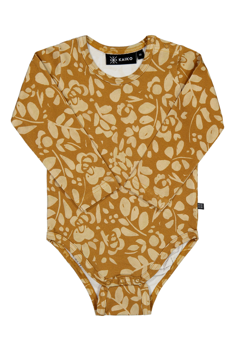 Floral Body Ls Ochre