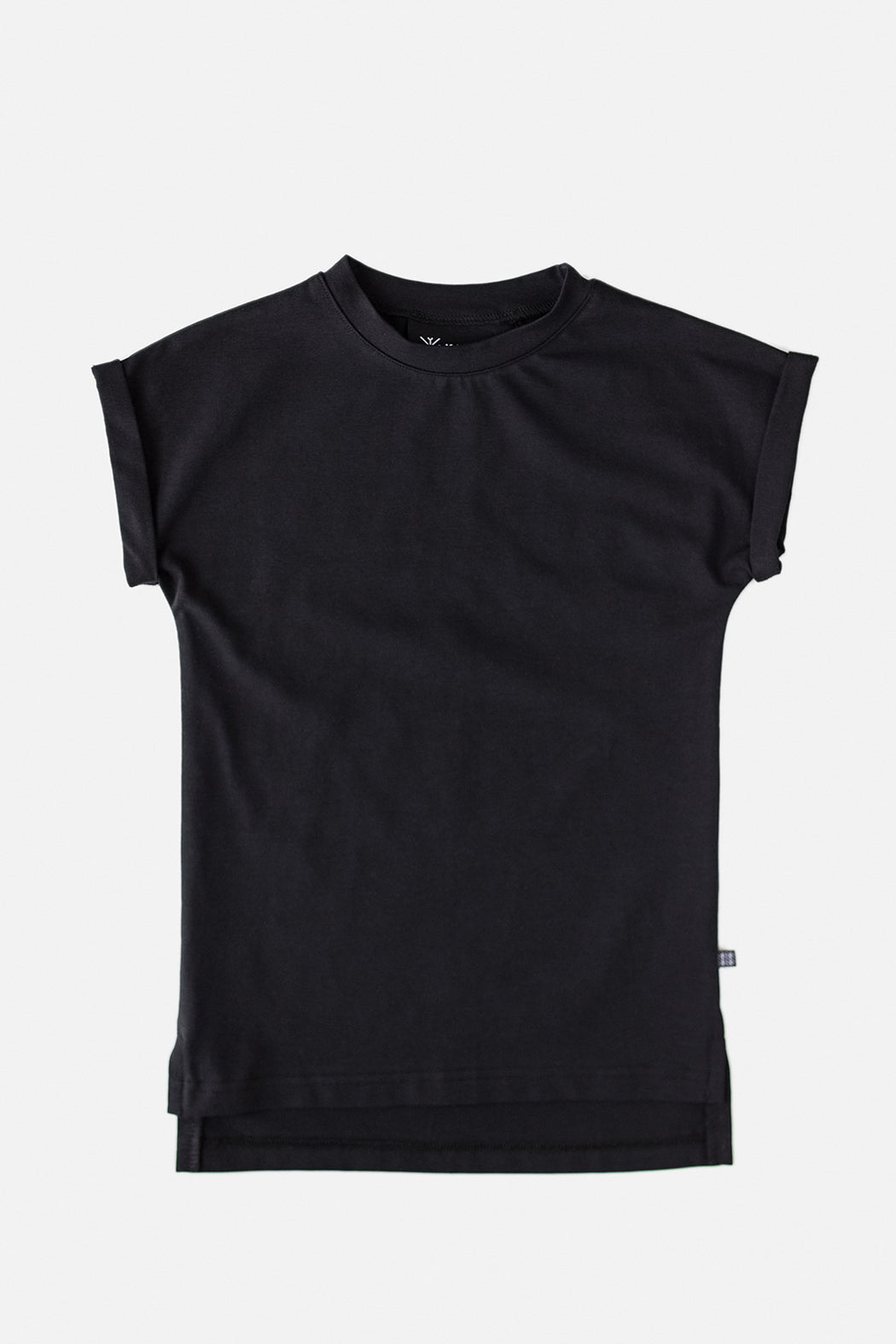 Drop shoulder t-shirt, musta