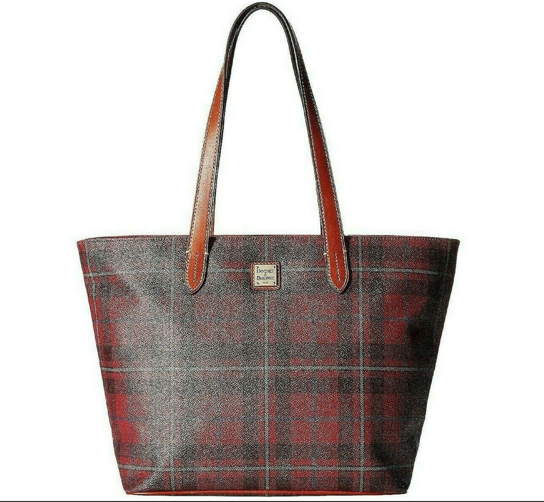 Dooney and Bourke Large Shopper Tote Tiverton Cranberry