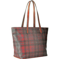 Load image into Gallery viewer, Dooney and Bourke Large Shopper Tote Tiverton Cranberry