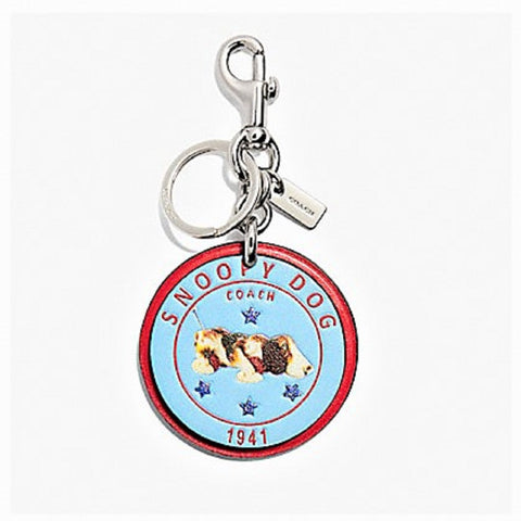 COACH SNOOPY DOG BAG CHARM F32657