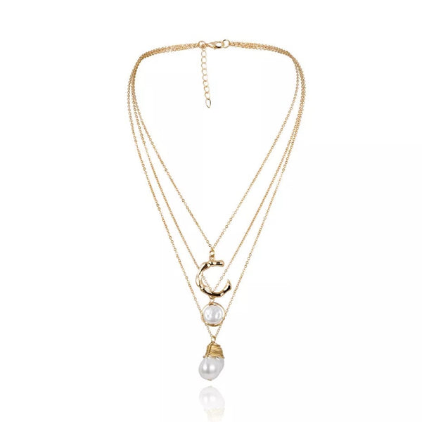 Isabella Pearl & Bamboo Necklace