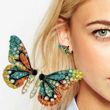 Load image into Gallery viewer, Butterfly Crystal Earrings