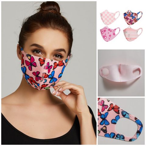 Pink Pattern Face Mask