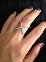 Load image into Gallery viewer, 18K Rose Gold Plated Cross Ring
