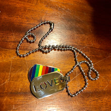 Load image into Gallery viewer, Love rainbow pride dog tags