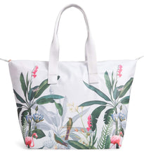 Load image into Gallery viewer, Ted Baker London Pistachio Print Foldaway Shopper Tote