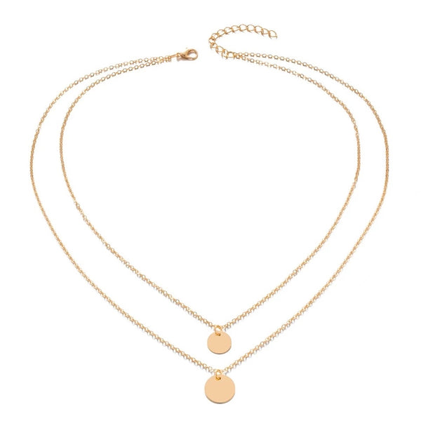 Savanna double disc necklace