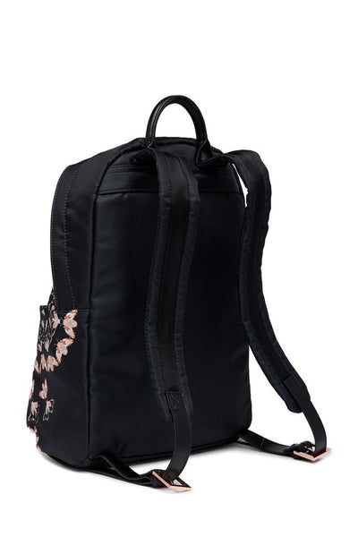 Ted Baker London Eartha Queen Bee Nylon Black Pink Backpack Bag