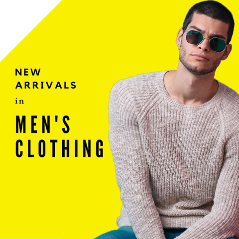 New arrivals in men's clothing