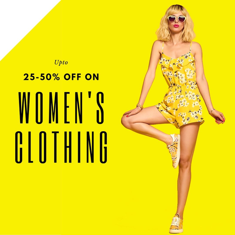 25-50% off on women's clothing