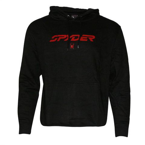 Spyder Men's Hoodie Signature Logo Drawstring Fleece Lined Hooded Sweatshirt