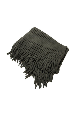 DBFL1 Women's Fringe Knitted Crochet Cutout Infinity Loop Scarf 5 Colors