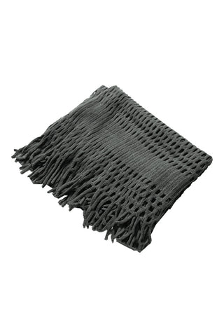 DBFL1 Women's Fringe Knitted Cutout Infinity Loop Scarf 7 Colors