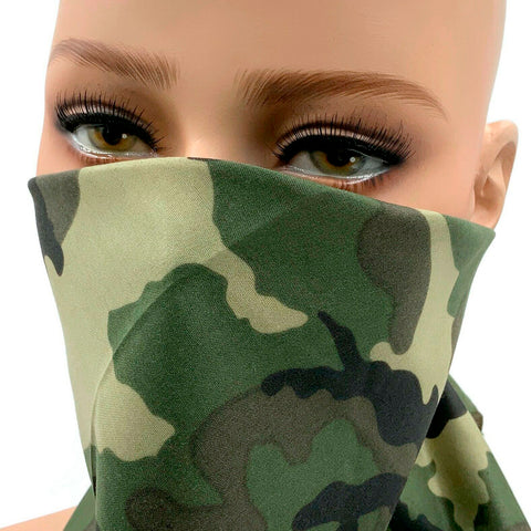 Bandana 3-6-12 PC Face Cover Military Camouflage Print Cotton Head Wrap Mask