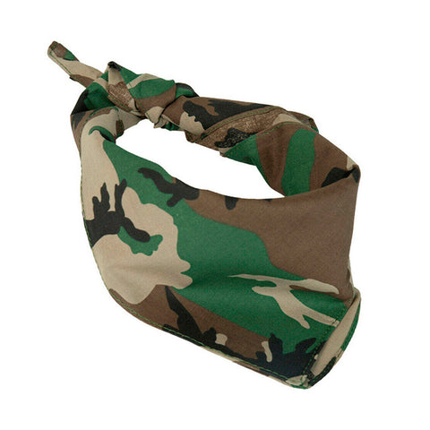 Bandana Face Cover Military Camouflage Print  Cotton Head Wrap Face Mask