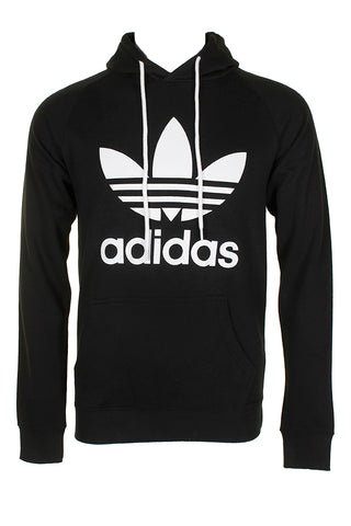 Adidas Men's Trefoil Logo Graphic Pouch Pocket Pullover Hoodie