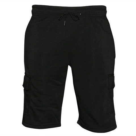 Mens Sweat Cargo Shorts Soft Cotton Lounge Gym Workout Drawstring Casual