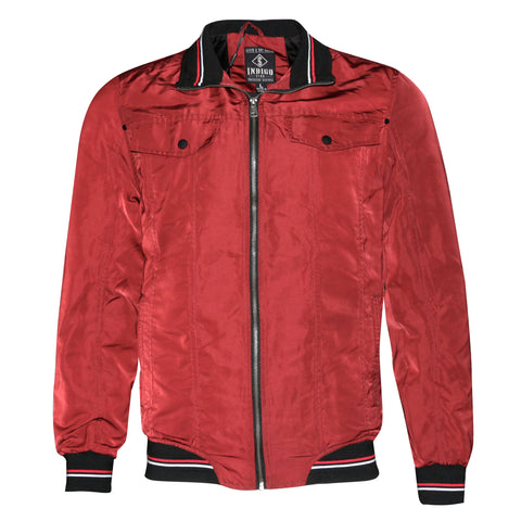 Mens Zipper Casual Jacket Zip Up Front Side Button Pockets Slim Fit MILJ-615