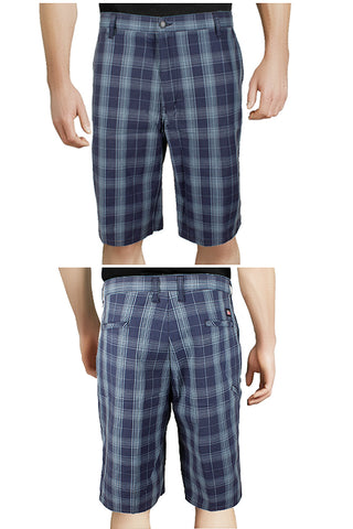 "Dickies Men's Flex 13"" Flat Front Flex Plaid Shorts"
