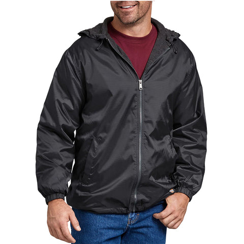Dickies Men's 33237 Fleece Lined Hooded Nylon Water Resistant Jacket
