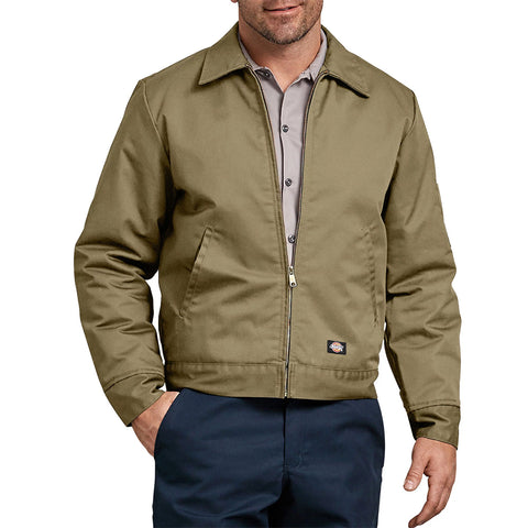 Dickies Men's TJ15 Insulated Lined Quilted Eisenhower Zip Up Work Jacket