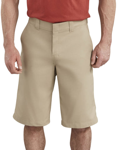"Dickies Men's WR660 13"" Flex Active Waist Flat Front Stretch Twill Shorts"