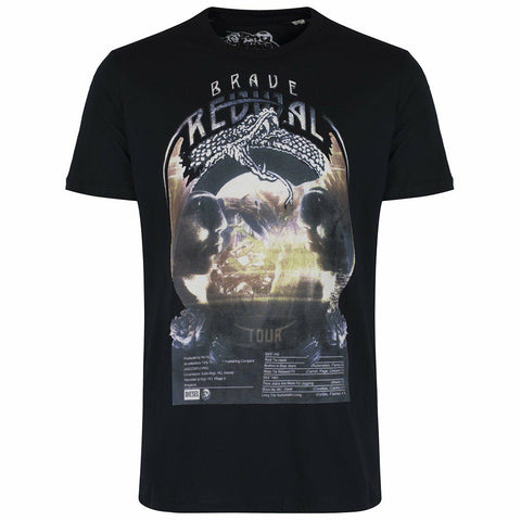 Diesel Men's 00S7VL Short Sleeve Brave Revival Tour Graphic T-Shirt