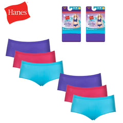 Hanes Ladies 6 Pack Tagless Lightweight and Breathable Hipsters