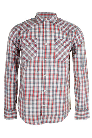 Levi's Men's Long Sleeve Western Cut Snap Plaid Shirt
