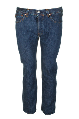 Levis Men's 501 Denim Original Shrink to Fit Button Fly Jeans