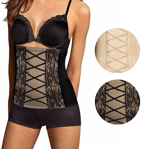 Maidenform Women's Lace Frim Control All Around Smoothing Waistnipper Corset