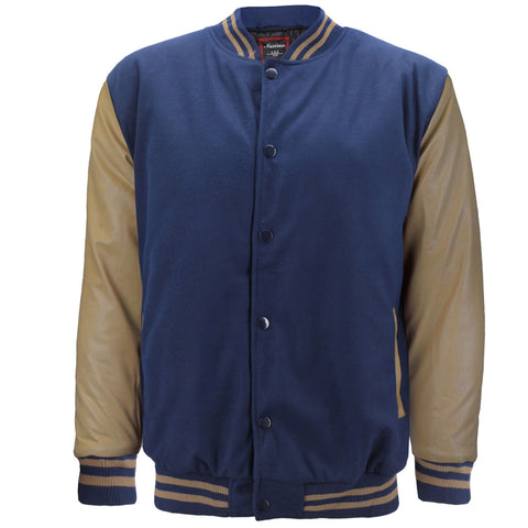 Maximos Men's LMJ Snap Button Front Classic Varsity Jacket