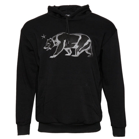 Mens Sweatshirt Pullover Hoodie Embroidered Bear Long Sleeve Pocket Sweater