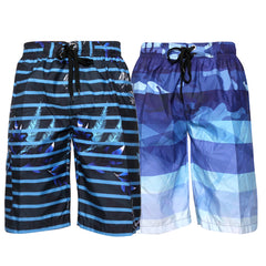 Men's Swim Shorts Trunks Surf Beach Pocket Relaxed Fit Polyester Original Deluxe