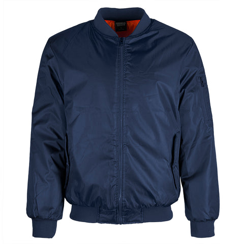 Original Deluxe Men's Zip Up Side Pockets Bomber Jacket