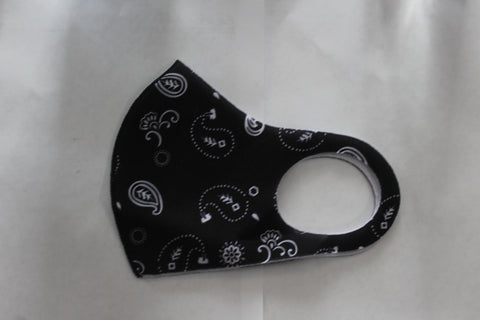 12 Pc-Black Paisley