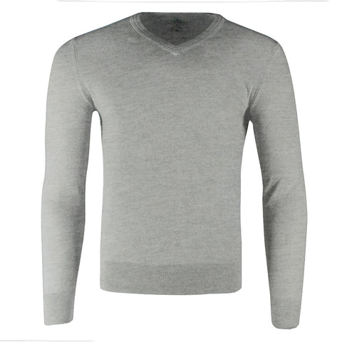 St John's Bay Men's Long Sleeve V Neck Solid Cotton Pullover Sweater