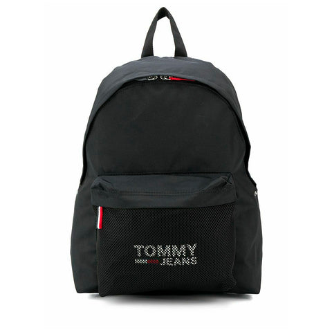 Tommy Jeans Logo Cool City Print Mesh Pocket School Bag Backpack 4x12x18