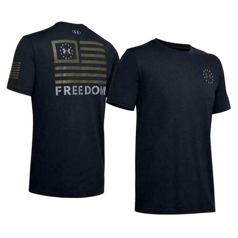 Under Armour Men's UA Freedom Banner T-Shirt Graphic Short Sleeve Tee 1352147