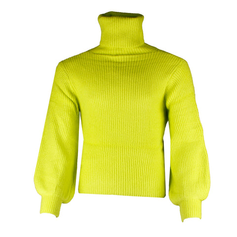 Very Moda Women's Glowing Oversized Turtleneck Knitted Sweater