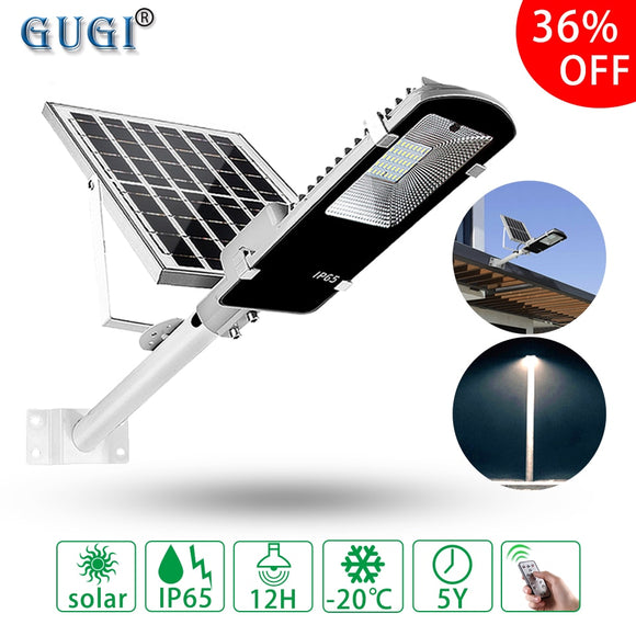 Outdoor Solar street Light Oversea warehouse Waterproof Large Solar Panel Remote Control Bright Led Street Light For Garden Yard