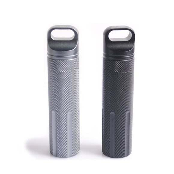 Super Strong CNC Outdoor Waterproof Emergency First Aid Survival Pill Bottle Camping EDC Tank Box for Cigarettes Matches Outdoor