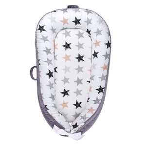 Baby Lounger, Portable Infant Bassinet - Stars