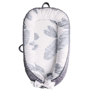 Baby Lounger, Portable Infant Bassinet - Leaves