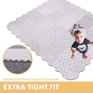 Baby Play Mat with Fence - Extra Large (5FT x 6FT)