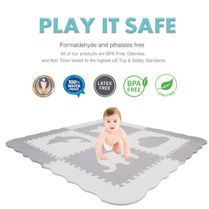 Baby Play Mat with Fence - Large (5FT x 5FT)
