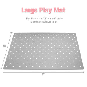 Baby Play Mat - Extra Large (4FT x 6FT) - Triangle Pattern