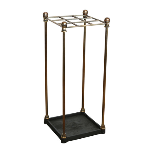 Antique Brass Square Umbrella Stand